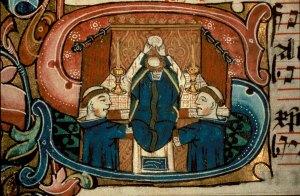 Messa medievale adorazione dell'Ostia