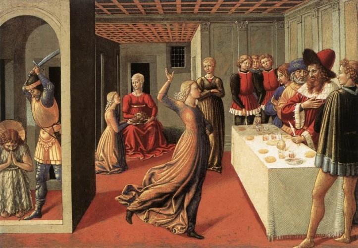 """Benozzo Gozzoli, """"La danza di Salomè"""" (1462), National Gallery, Collezione Kress, Washington."""